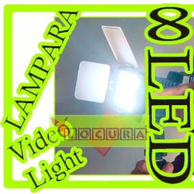 Lampara Profesional Video Reflex 8 Led Bateria Np F970 Dslr