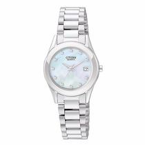 Reloj Citizen Eu2660-50d Ladies Caratula Madre Perla Fecha