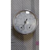 Barômetro, Termômetro E Higrômetro Tipo Relógio De Parede