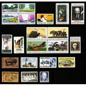 Timbres Postales De Estados Unidos (parte 2) De 1969 A 1970