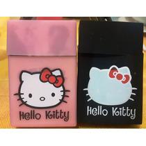 Cigarrera De Silicon Hello Kitty Negro O Rosa