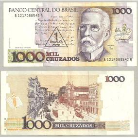 Nota Cédula Dinheiro 1 Cruzado Novo 1989 C-198- Super Barata