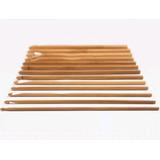 Kit C/ 12 Agulhas De Crochê De Bambu 3mm Até 10mm