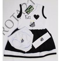 Kit Vestido Santos 0 À 18 Meses Para Meninas