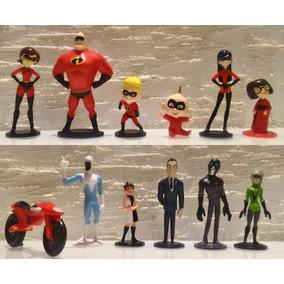 Os Incríveis 2 - 12 Miniaturas - Heróis E Vilões - Voyd Zezé