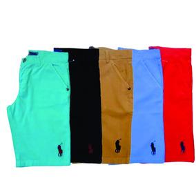 Kit C/ 5 Bermudas Sarja Marcas Variadas Masculinas Coloridas