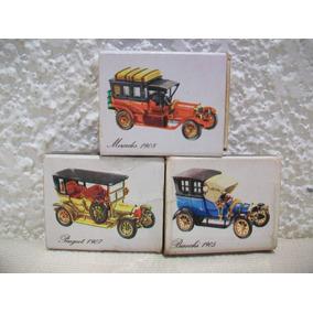 Lote De 3 Cajas De Fosforos Luxor Con Autos Antiguos