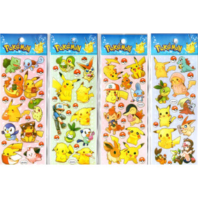 20 Planchas De Stickers Pokemon Bob Esponja