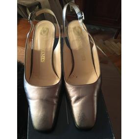 Zapatos Sin Talon Color Plata Rosado