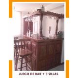Juego De Bar + 3 Sillas