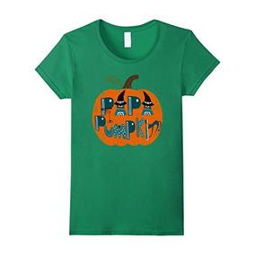 Mujer Papa Calabaza Bruja Familia Halloween Traje Camisetas