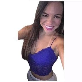 Roupas Femininas Blusas Cropped Renda De Coraçao-promoção
