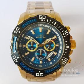 Relógio Invicta Pro Diver 24856 Original 51mm B.ouro Stank