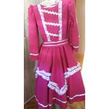 Vestido De Prenda 10 Anos + Saia De Armação (8 A 12 Anos)