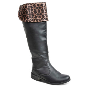Bota Luma Ventura Over The Knee Dona Beja 11076 - Preta