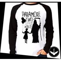 Manga Longa Paramore Worlds Banda Rock Blusa Camisa Comprida