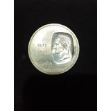 Moneda Doblón De 10 Bsf De Plata Año 1873-1973/ 30gr