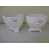 #20953 - Porcelana - Par Vasos Cachepot Tulipado Branco!!!
