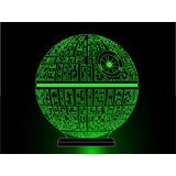 Luminária 3d Gama Laser - Estrela Da Morte - Star Wars