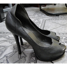 Sapato Scarpin Feminino Cinza Arezzo Usado Tam 34