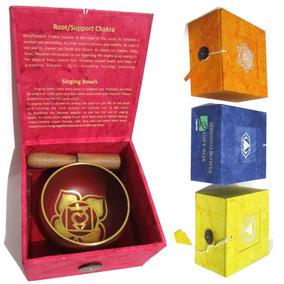 Tigela Tibetana Dos 7 Chakras P 8cm - Sino E Canto Alto