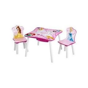 Mesa Y Dos Sillas De Princess Princesas Para Niñas