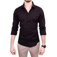 Camisa Social Slim Fit 100% Algodão - Pronta Entrega