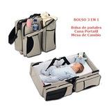 Bolso De Paseo Para El Bebé 3 En 1 - Pañalero/cuna/cambiador