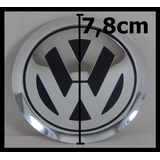 Emblema Volkswagen Alumínio Tampa Jetta Golf Roda Liga 78mm