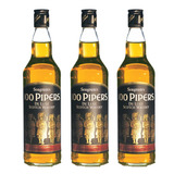 Seagrams 100 Piper`s Deluxe Whisky . Blend . 3 X 750 Ml