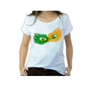 Camisetas Femininas Copa Do Mundo Brasil Mascara Iaia Brasil