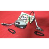 Espejo Metal Cromado Para Auto Clasico Antiguo Rat Hot Rod
