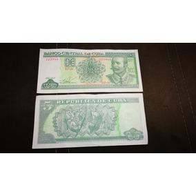 Billete Cubano De 5 Pesos.