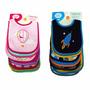 Baberos Para Niños Y Niñas Impermeables (set De 7 Unidades)