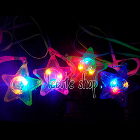 10 Collares Dije Luminoso Luz Led Fiesta Multicolor Neon