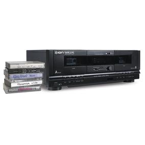 Toca Fitas K7 Duplo Deck E Conexão Usb Ion Tape2pc Promoção