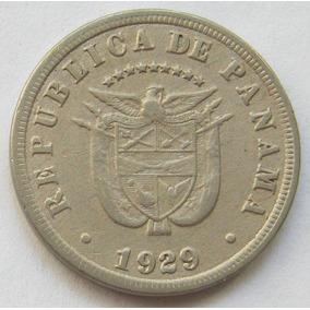 Panama Moneda 5 Centesimos De Balboa Año 1929 Km # 9 Escasa