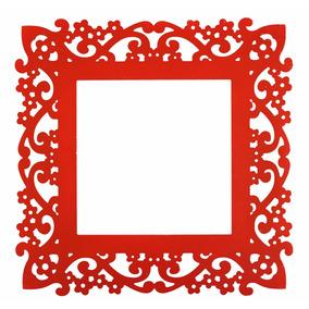 Moldura Para Espelho Vermelho Em Mdf