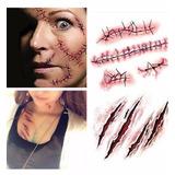 Tatuagem Falsa Cicatriz Halloween