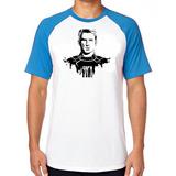 697826b632 Camiseta Blusa Camisa Raglan Capitão América Steven Rogers