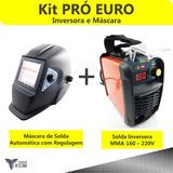 Inversora Solda 160 - 220v + Máscara C/ Reg - Frete Grátis