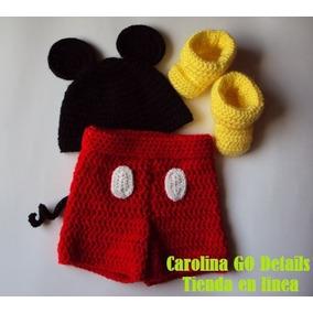 Disfraz De Mickey Mouse A Crochet Tejido