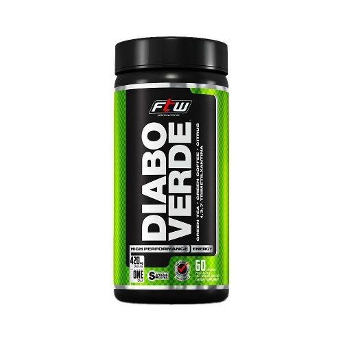 Diabo Verde Termogênico 420mg Cafeina - 60 Caps