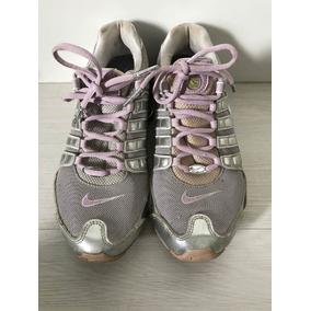 Tênis Nike Shox Prata E Lilás Tamanho 3,8 Us Lindo Raridade
