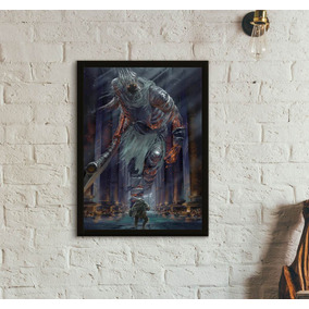 Quadro Dark Souls 3 Siegward Vs Yhorm The Giant (30x40)