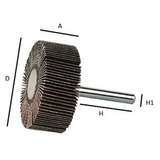 Rodas De Lixas P Furadeira 4cm - Diversos Grãos (lixa Flap)