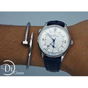 Reloj Jaeger Lecoultre Master Geographic Azul/ Plata