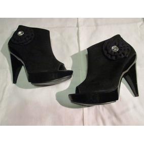 Zapatilla Dama Tipo Gamuza Color Negro Nuevos, Envio Gratis
