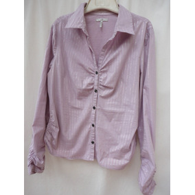 Lindisima Camisa Made In Usa Color Lila Talle Grande