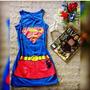 Vestido Super Herói Batman Mulher Maravilha Verão 2017